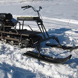 Лыжный модуль для мото буксировщиков