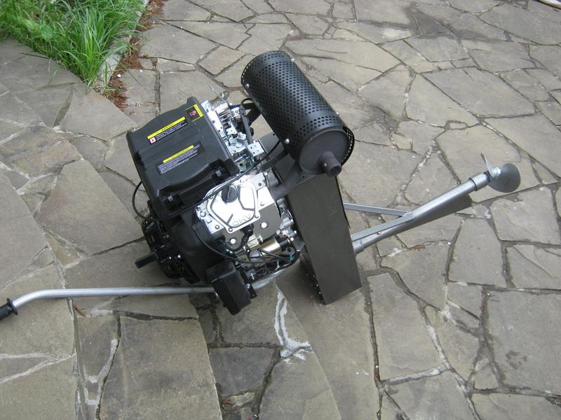 как сделать лодочный мотор из автомобильного