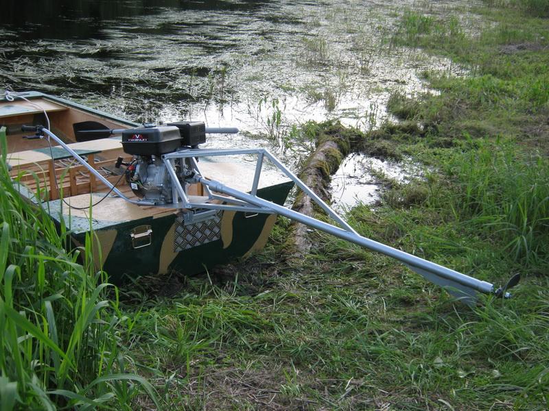 самодельная лодка со стационарным мотором
